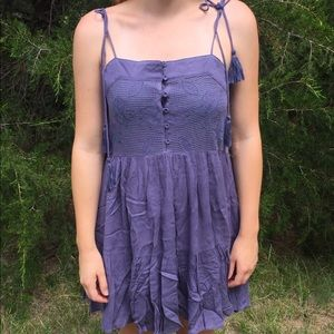 Blue tied strap summer dress (M/L)